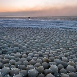 Ball Ice On The Beach